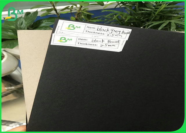 1.0mm 1.5mm 1.7mm 2.0mm 2.5mm 3mm Black Cardstock Paper Board For Small Cardboard Box