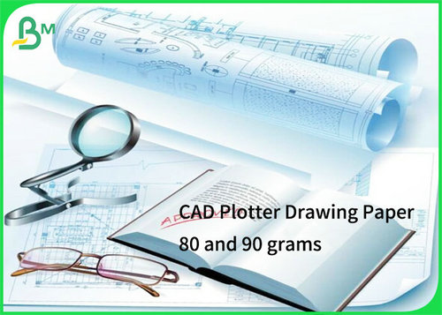 Plotter CAD drawing paper 80 and 90 grams 24 36 inch 50m 100m lenght with 2inch core