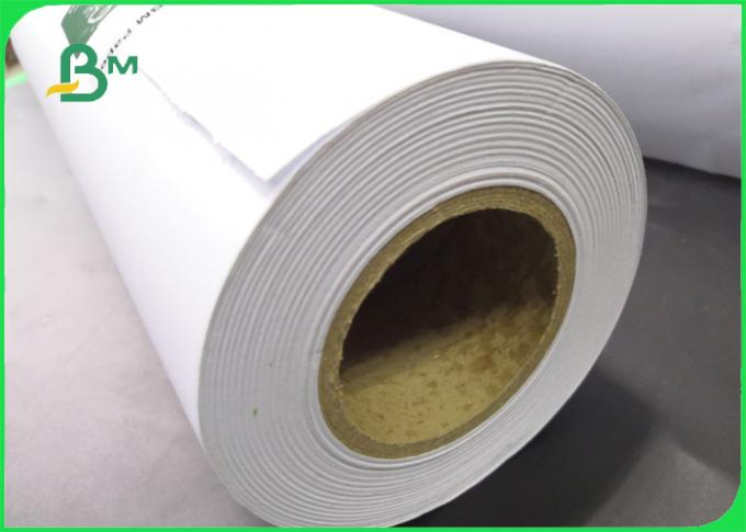 Strong Stiffness 80g CAD Plotter Paper Roll For Engineering Drawing 36inch Width