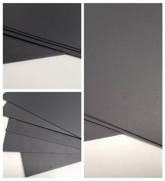 FSC SGS FDA Certified 350gsm 400gsm Black Cardboard For Notebook Covers