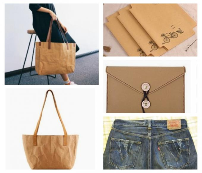 Eco - Feiendly Natural Fiber Pulp Washable Kraft Paper Colorfol For DIY Carry - On Bags