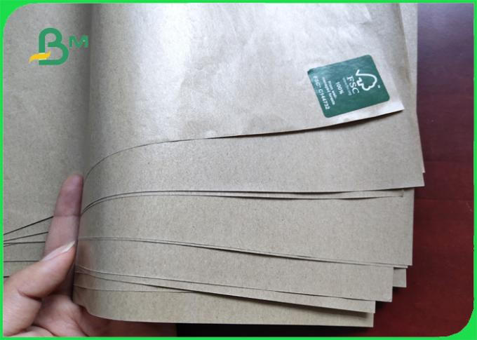 50gsm Natural Color PE Coated Kraft Paper / Cup Paper Single Side Coated In Rolls