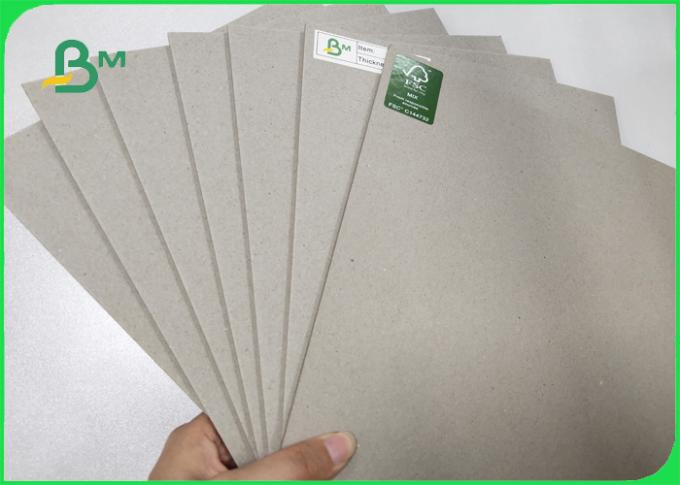 1500GSM Grey Board Made Of Recycled / Waste Paper Unpliant No Harm 2.4MM
