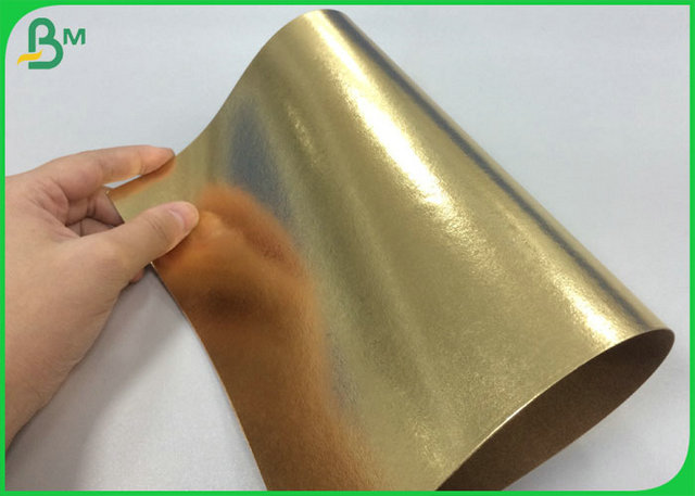 100% Recyclable Gold Color Washable Kraft Fabric For Making Women Wallet