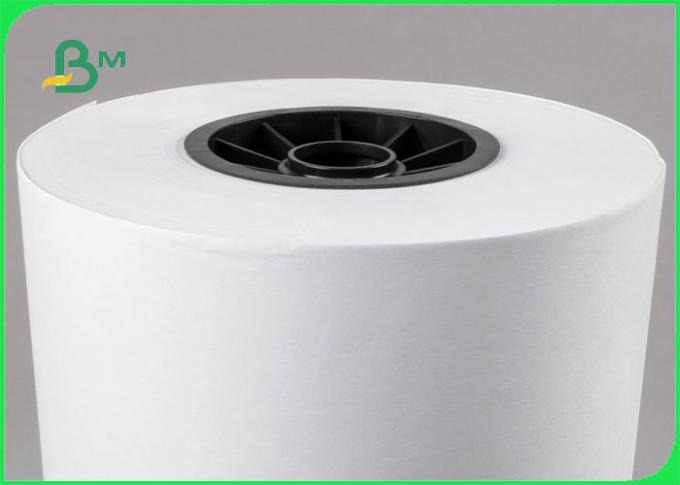 20LB 75GSM White Inkjet Bond Paper Rolls With 2 inch Cores For HP Printers