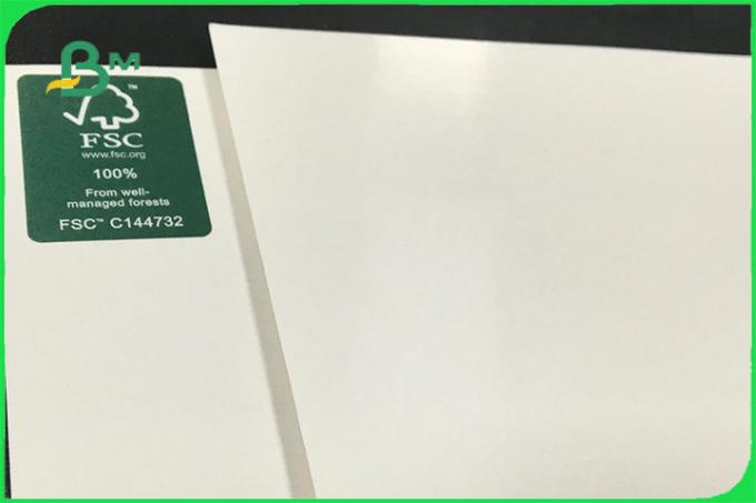 FSC FDA 300gsm Ivory One Side Coated White Board PE GC1 Paper For Paper Bowl