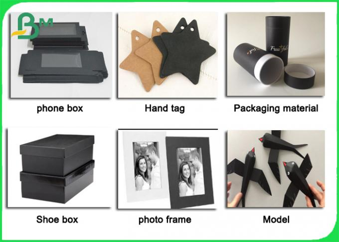 FSC Single Sided Black Card Paper 110 - 450gsm for Photo Albums