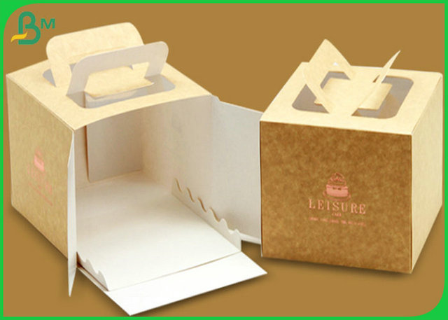 FSC Virgin Pulp Coated Kraft Paper Board For Lunch Box Material
