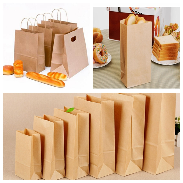 Food Grade 50gsm Virgin Natural Brown Kraft Paper Lunch Bags Paper