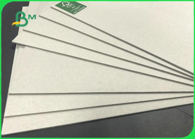 70 * 100cm 0.6mm 0.8mm 1.0mm Rigid Uncoated Grey Board For Notebook Covers
