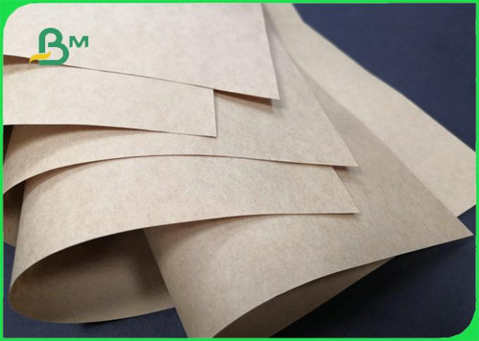90gsm Brown Kraft Paper For Shopping Bag Tear resistant 70cm 100cm Roll