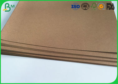 "Kekakuan yang Baik Brown Kraft Liner Paper 36 ""300gsm Tear Proof For Handbag"