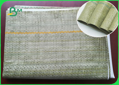 Green Thin Woven Bag Composite Paper Untuk High - Strength Cement Packaging Bags