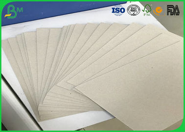 1.0mm Tebal Daur Ulang Pulp Ganda Sisi Uncoated Grey Chip Board Dengan Gray Back
