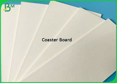 Uncoated 220G 270G 320G 350G White Coaster Paper / Kertas Penyerap 0,4mm - 2mm Tebal