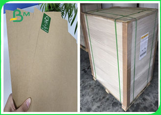 FSC & SGS 50g hingga 80g Kraft Liner Kertas Food Grade Virgin Wood 28 * 39 inch