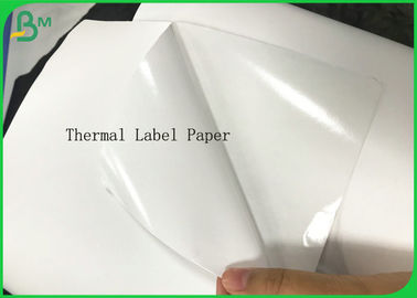 Kosong Putih Tahan Air Label Kertas Stiker Thermal Rolls Self Adhes Kertas Barcode