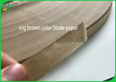 Cina Tidak Berbahaya Roll Colorful 60G Nature Brown Straw Paper Slitted White Kraft Paper pemasok